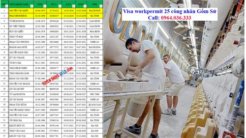 Chúc mừng Visa 25 công nhân Gốm sứ thi tuyển ngày 10/6/2021 Rumani