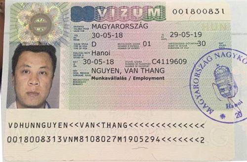 Visa lao động Hungary