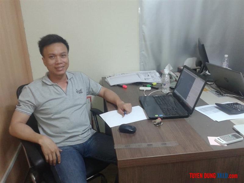 Kỹ sư Lê Hùng Khoáng tại nợi làm việc