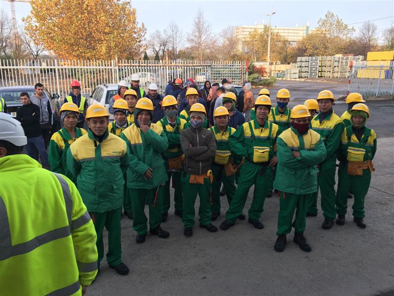 Rumani bước chân đầu tiên của lao động tại công ty Bogat