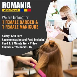 [Rumani] Tuyển Nữ làm Tóc, Móng, spa lương 20 triệu đi rumani